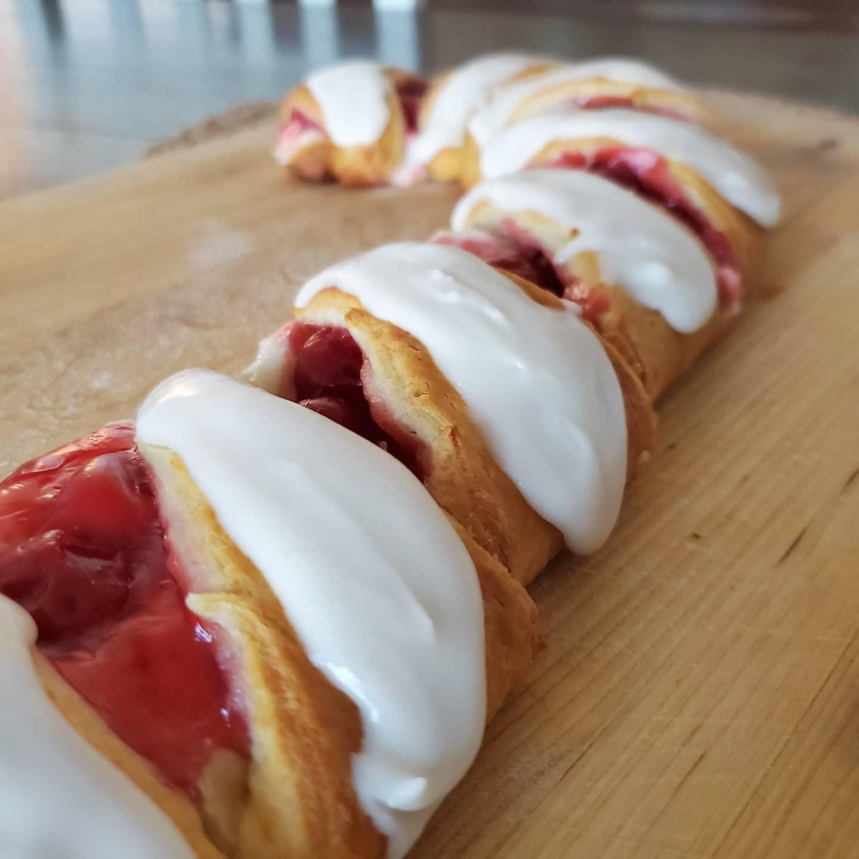 Cherry Candy Cane Danish